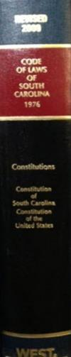 Constitution volume of South Carolina Code Annotated; contains both SC and United States Constitutions