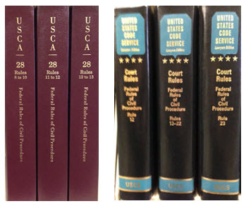 Court Rules volumes for the USCA and USCS.