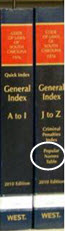 General Index to SC Code Annotated; Popular Names Table is in the J to Z volume.