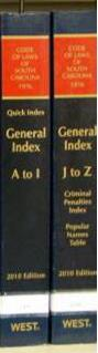 General Index to SC Code Annotated.