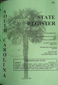 South Carolina State Register.