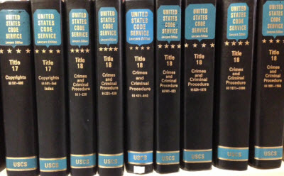 Volumes of the U.S. Code Service (U.S.C.S.), published by LexisNexis.