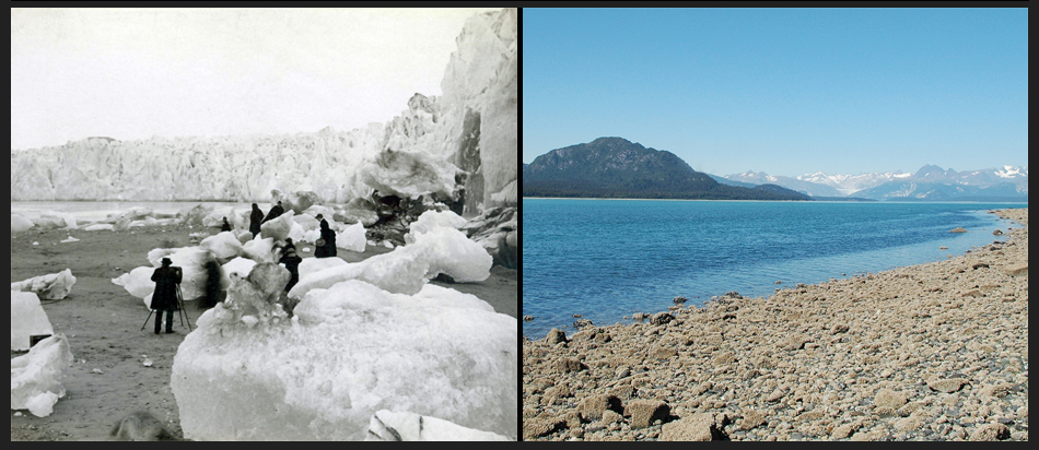 Muir Glacier, Alaska - Changes from 1882 to 2005