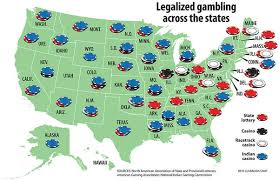 Map - Legalized Gambling Across the States