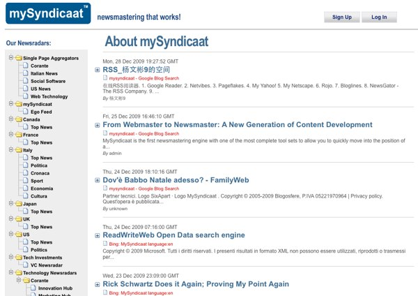 Screenshot of My Syndicaat website