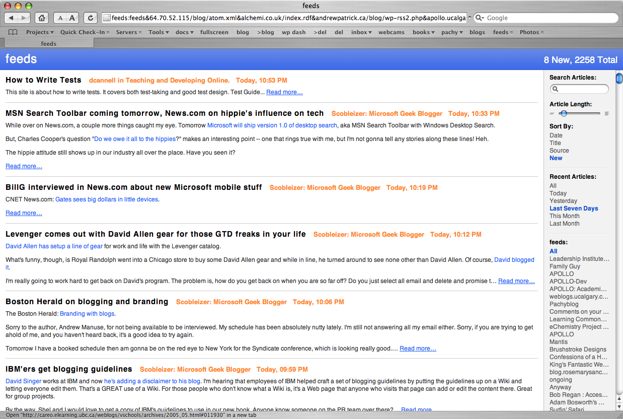 Screenshot of Safari Browser