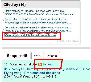screenshot showing how to set up an alert in ScienceDirect