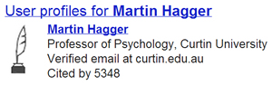 Example Google Scholar profile