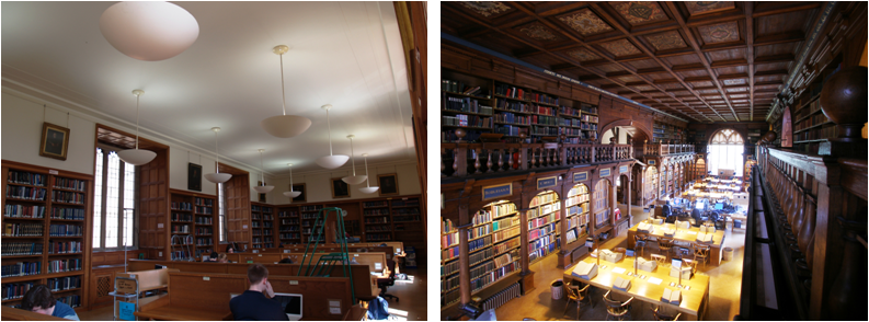 Pictures of Lower Reading Room and Duke Humfrey's Library