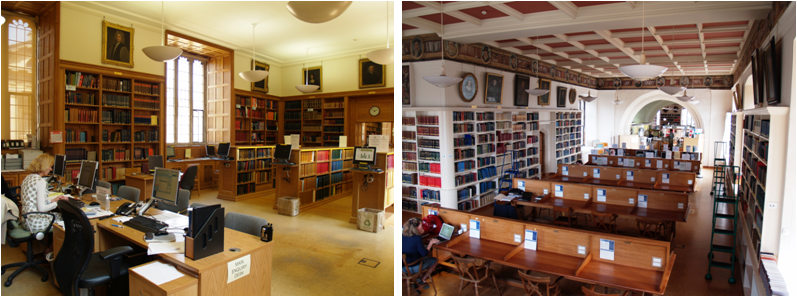 Pictures of Main Enquiry Desk and Upper Reading Room