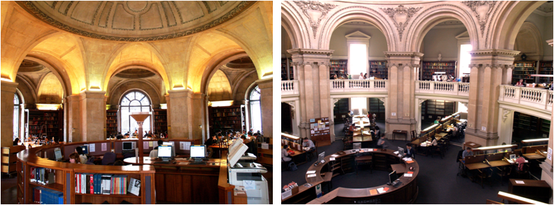 Pictures of Lower Camera and Upper Camera reading rooms
