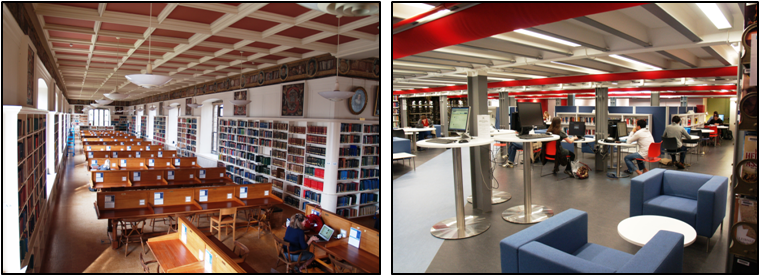 Pictures of Bodleian Upper Reading Room and Upper Gladstone Link
