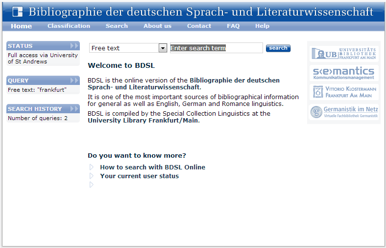 BDSL Homepage