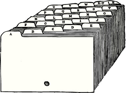 Picture of index cards