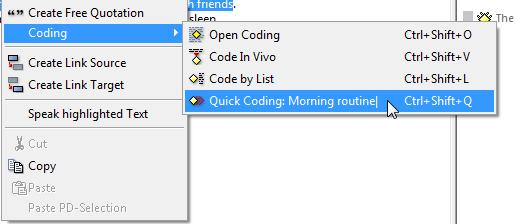 quick coding