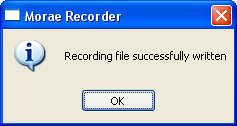 OK - successful recording