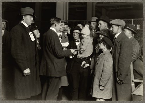 A social worker at Ellis Islan... Digital ID: 212152. New York Public Library