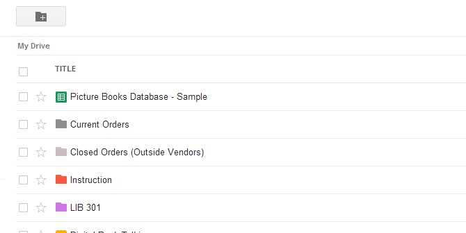 Google Drive file list