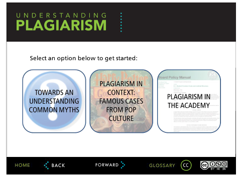 Understanding Plagiarism tutorial