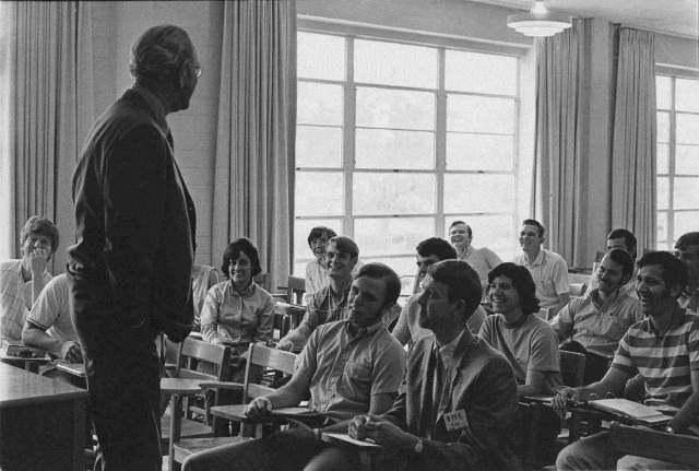 LBJ in Classroom