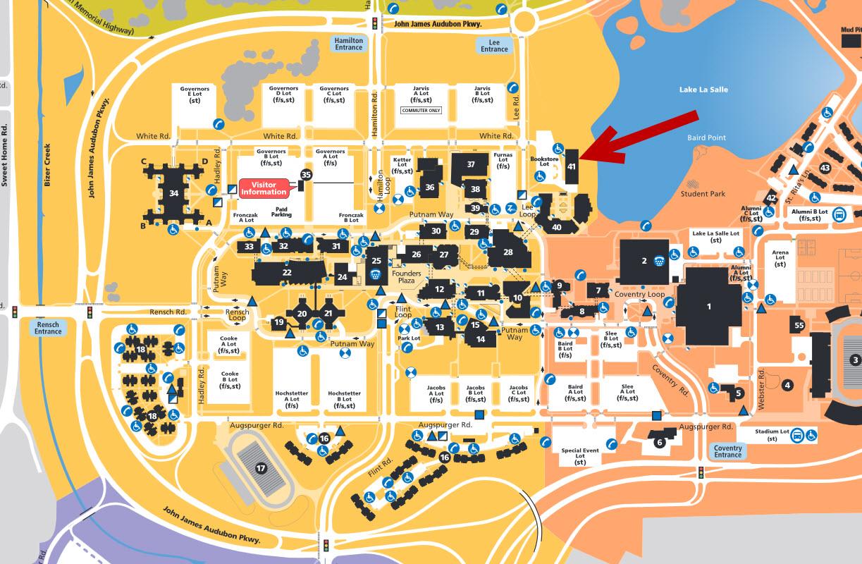 North campus map