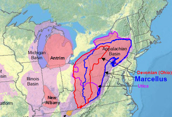 Appalachian basin for shale