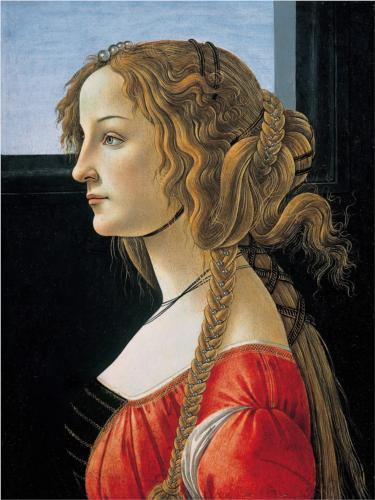 Boticelli, Portrait of Simonetta Vespucci