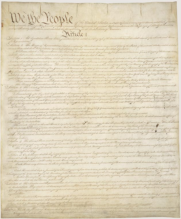 Constitution Image U.S. Archives