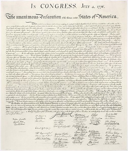 Declaration of Independence by Roscoe Ellis