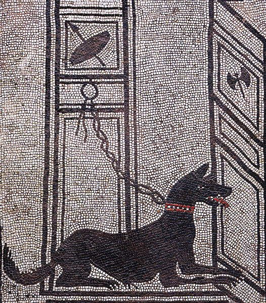 Mosaic of dog in image