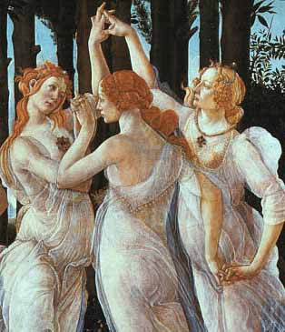 Painting of the Three Graces