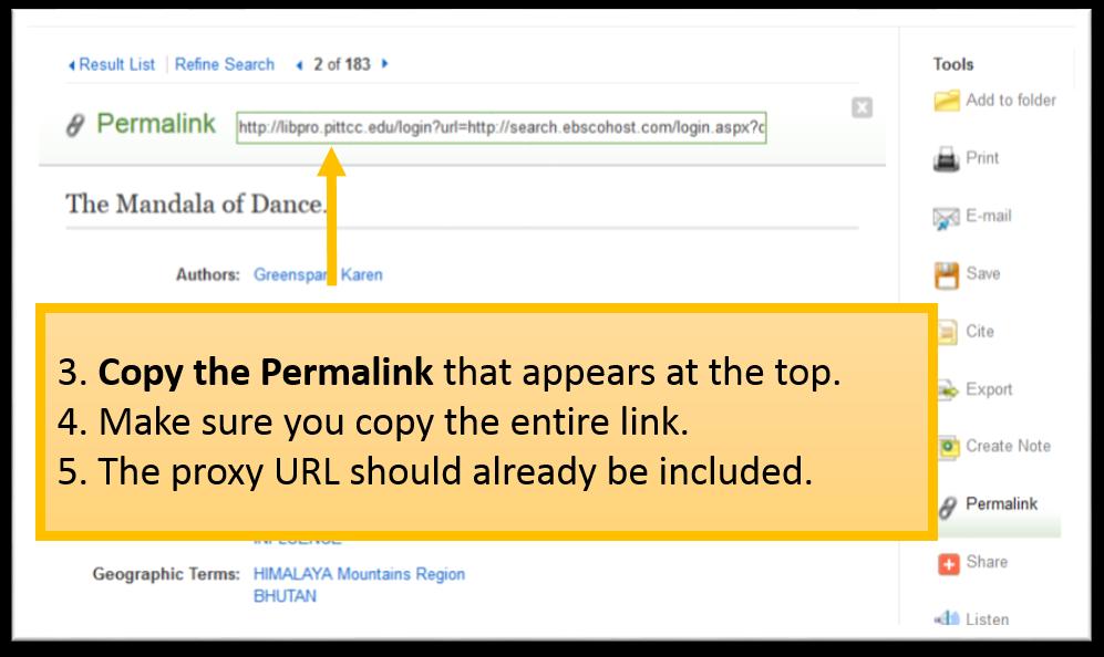 Copy the Permalink