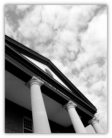 Black & White image of PCC Library