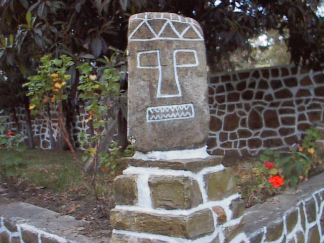 mask painted on stone, Cochabamba, Bolivia