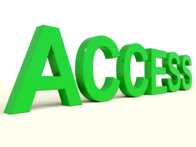 picture of the word access in green