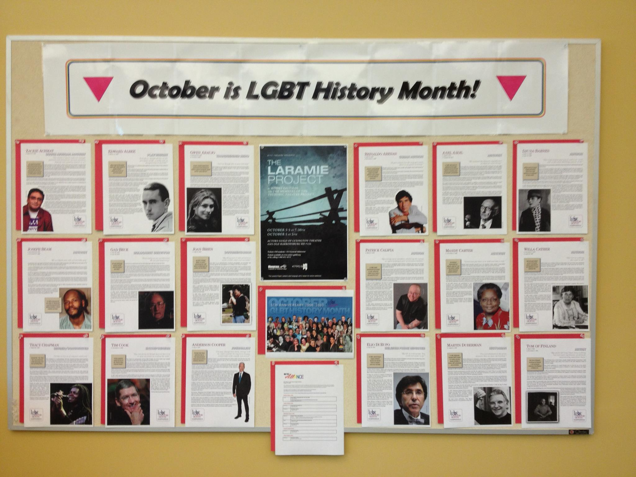 LGBT History Month Display