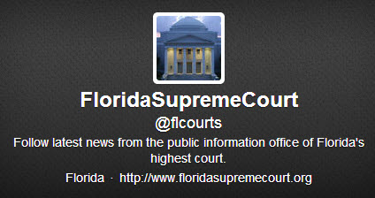 Florida Supreme Court Twitter