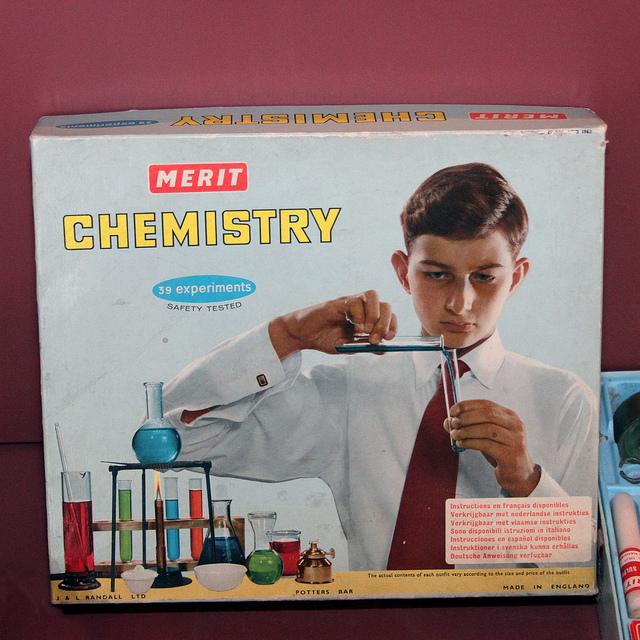 Kid with chemistry set