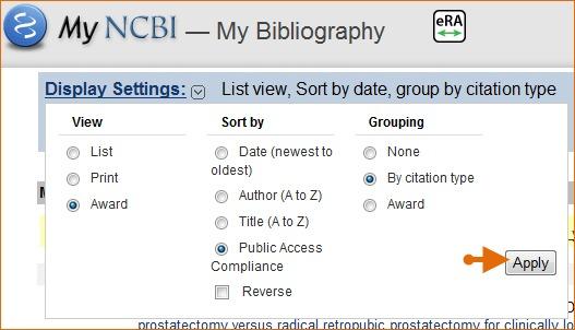 my bibliography award view