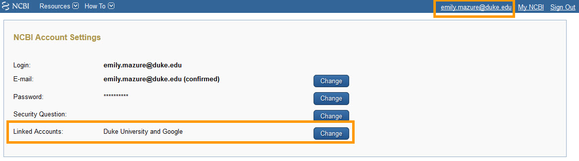 NCBI Site Preferences Link