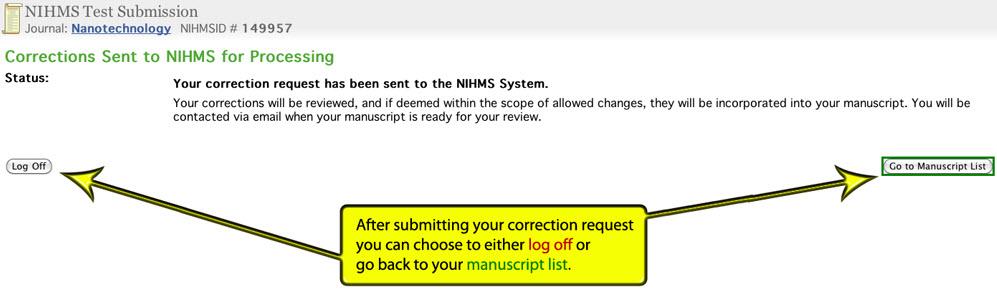 NIHMS Approval