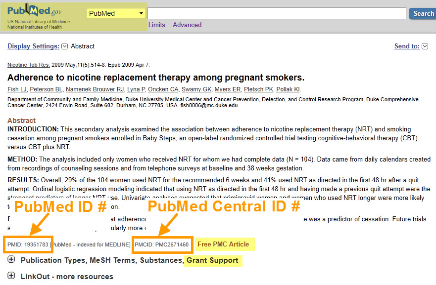 PMCID in PubMed