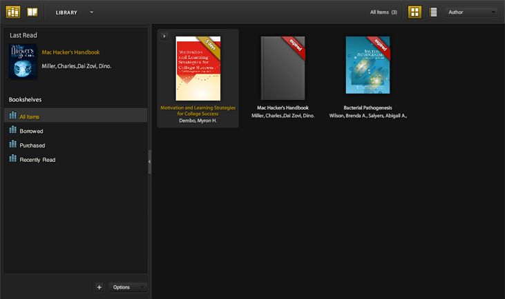 Adobe Digital Editions - eBooks in the Library