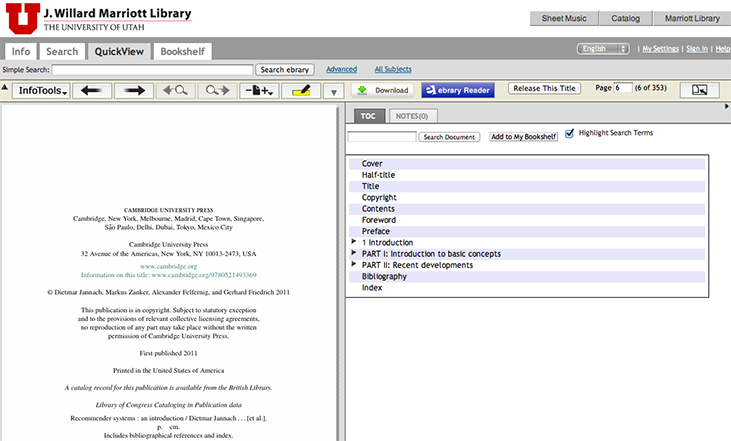 ebrary: Open Document