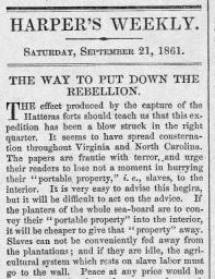 Harpers Weekly article August 3, 1861