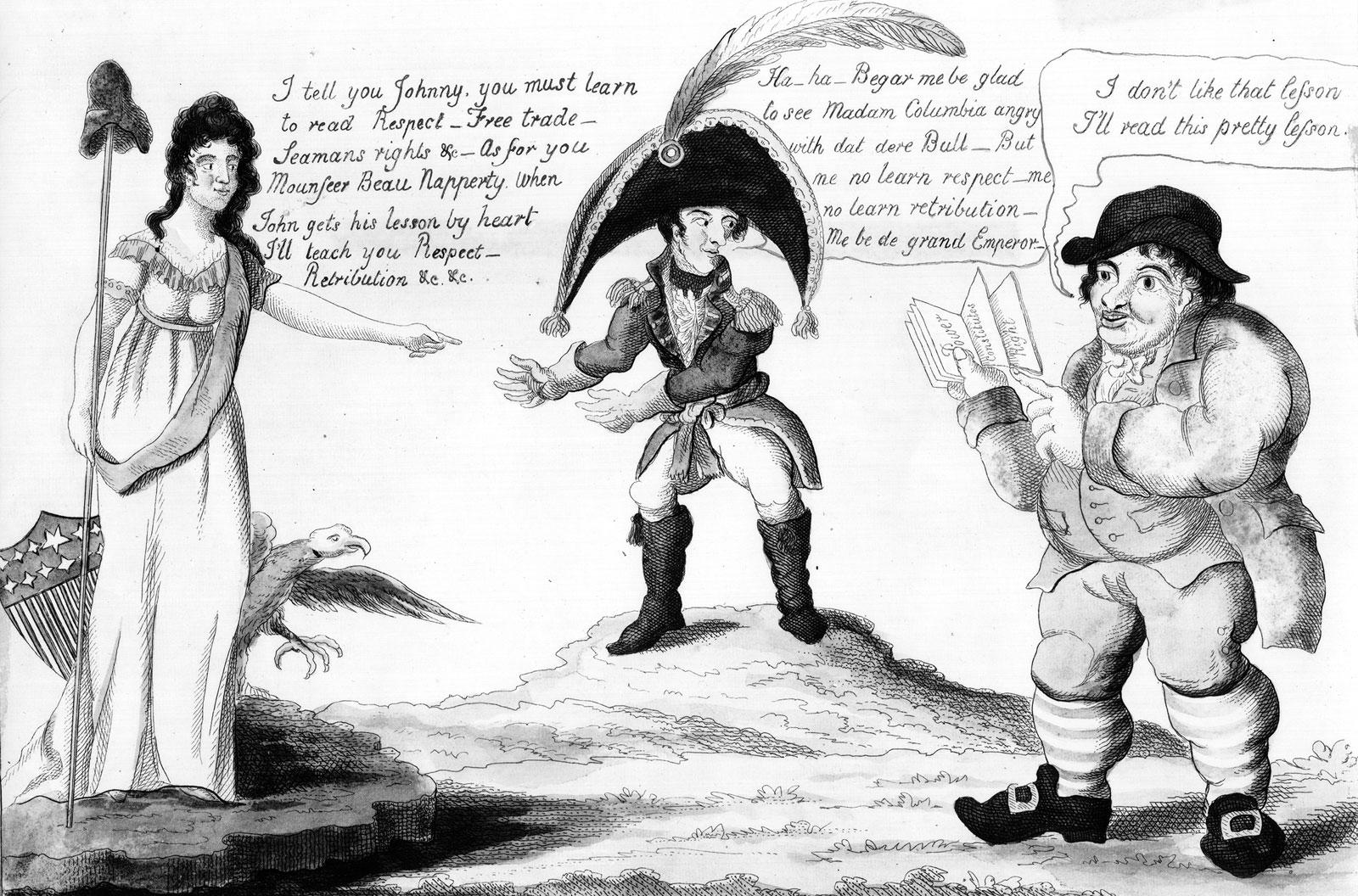 War of 1812 cartoon