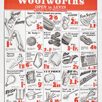 advertising sheet from Woolworth from newspaper