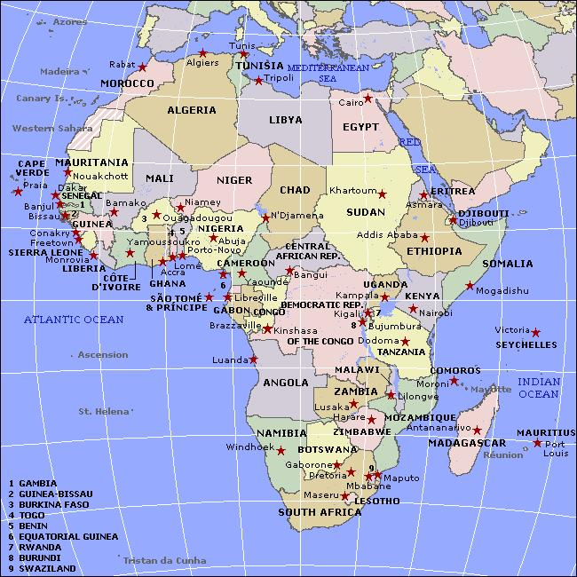 Image of a map of Africa
