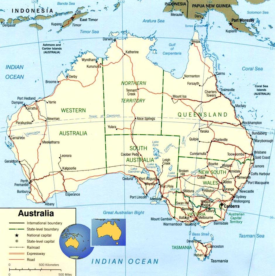 Image of a map of Australia