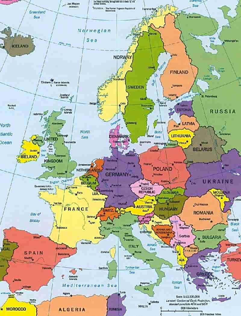 Image of a map of Western Europe